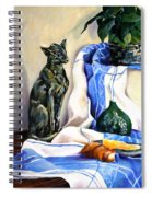 The Cat And The Cloth Spiral Notebook