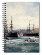 The Channel Fleet Off Scarborough Spiral Notebook