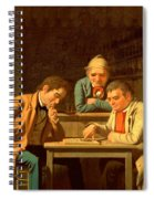 The Checker Players Spiral Notebook
