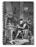 The Chemist, 17th Century Spiral Notebook