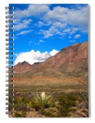 The Chisos Mountains Big Bend Texas Spiral Notebook