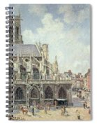 The Church Of Saint Jacques In Dieppe Spiral Notebook