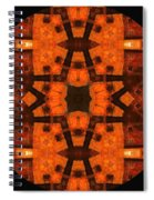 The Color Orange Mandala Abstract Spiral Notebook