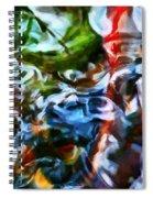 The Coloured Eddies Spiral Notebook