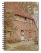 The Cottage With Beehives Spiral Notebook