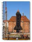 The Crane In Gdansk Spiral Notebook