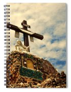 The Cross In The Grotto In Iowa Spiral Notebook