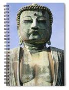 The Daibutsu Or Great Buddha, Close Up Spiral Notebook
