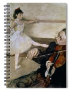 The Dance Lesson Spiral Notebook