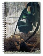 The Death And The Gravedigger Spiral Notebook