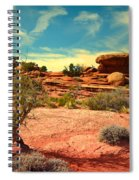 The Desert And The Sky Spiral Notebook