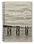 The Disappearing Pier Spiral Notebook