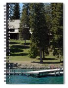 The Dock At Sugar Pine Point State Park Spiral Notebook