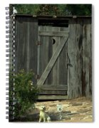 The Double Seat Outhouse Spiral Notebook