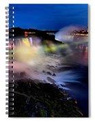 The Evening Rainbow Spiral Notebook