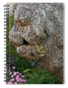 The Face In The Tree Spiral Notebook
