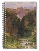 The Falls Of Tivoli Spiral Notebook