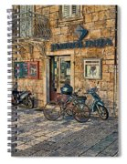 The Ferry Ticket Office Corfu Croatia Spiral Notebook