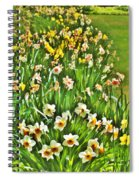 The Flower Bed Spiral Notebook