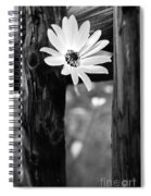 The Flower Bw Spiral Notebook