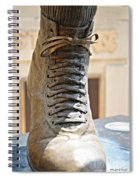 The Foot Of Choo Choo Justice Spiral Notebook