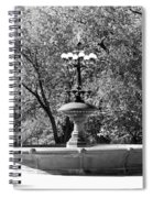The Fountain In Black And White Spiral Notebook