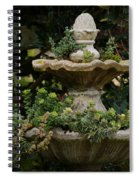 The Fountain Painterly Spiral Notebook
