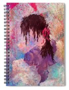 The Girl Of Many Colors Spiral Notebook