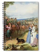 The Girls We Left Behind Us - The Departure Of The 11th Hussars For India Spiral Notebook