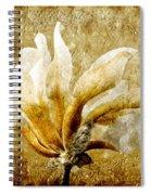 The Golden Magnolia Spiral Notebook