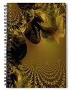 The Golden Mascarade Spiral Notebook