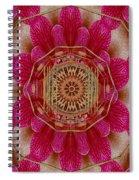 The Golden Orchid Mandala Spiral Notebook