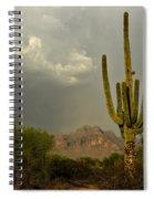 The Golden Saguaro  Spiral Notebook