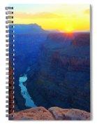 The Grand Canyon Solitude At Toroweap Spiral Notebook