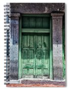 The Green Door In The French Quarter Spiral Notebook