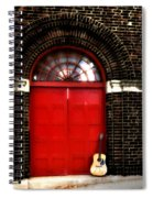 The Guitar And The Red Door Spiral Notebook