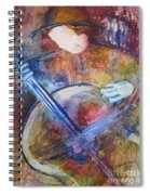 The Guitar Player Spiral Notebook
