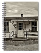 The Heart Of Glady Sepia Spiral Notebook