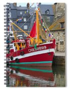 The Historic Fishing Village Of Honfleur Spiral Notebook