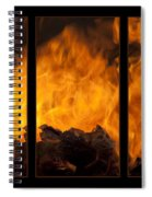 The Home Fires Are Burning Triptych Spiral Notebook