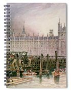 The Houses Of Parliament In Course Of Erection Spiral Notebook