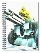 The Howitzer 105mm Field Gun Carriage Spiral Notebook