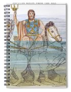 The Iliad: Neptune, 1805 Spiral Notebook