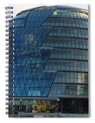 The Imposing Glass Greater London Mayoral Building On The Banks Of The Thames Spiral Notebook