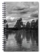 The Island In The Midlle In Bw Spiral Notebook