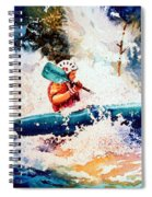 The Kayak Racer 18 Spiral Notebook