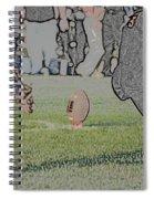 The Kick Off Digital Art Spiral Notebook