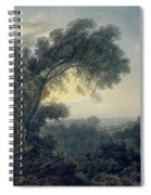 The Lake Of Albano And Castle Gandolfo  Spiral Notebook