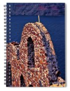 The Last Wall Standing Santorini Greece Spiral Notebook