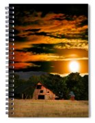 The Late Sam's Rd. Barn In The Moonlight Spiral Notebook